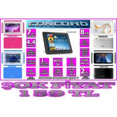 CONCORD TABLET PC 4ÇEKİRDEK HD EKRAN ÇİFT CAMERA