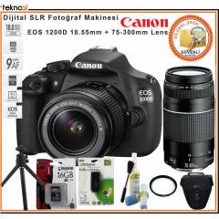 Canon EOS 1200D 18-55 + 75-300 Kit Hediye Kit