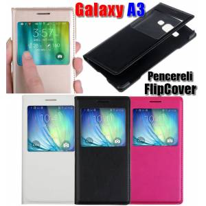 Samsung Galaxy A3 Win S View Cover K�l�f+2xFilm