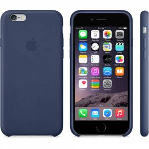 Apple iPhone 6 Deri K�l�f GeceMavi-MGR32ZMA