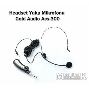 Headset Kafa-Yaka Mik. Gold Audio Acs-300 7Metre