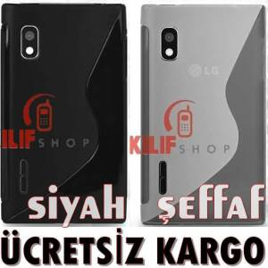 LG Optimus L5 E612 Sline TPU Soft Kılıf +3Film