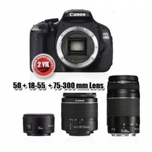 Canon EOS 600D + 18-55mm + 75-300mm + 50 mm SLR