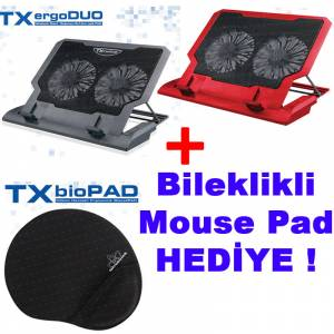 TX ErgoDUO �ift Fanl� HED�YEL� Notebook So�utucu