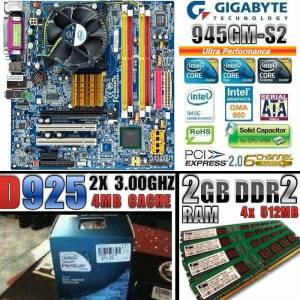 GIGABYTE ANAKART==CORE 2X 3.00GHZ CPU==2GB DDR2