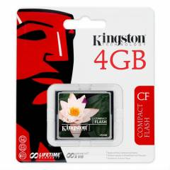Kingston 4GB CompactFlash Kart Bellek CF/4GB