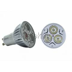 3X1 WATT POWER LED SPOT AMPUL GU10