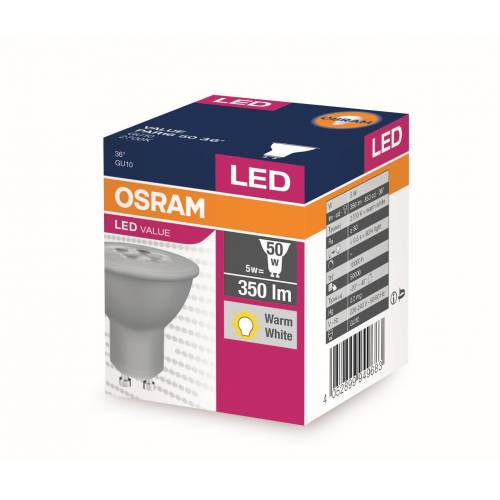 OSRAM LED VALUE SPOT PAR1650 5W GU10  SARI IŞIK