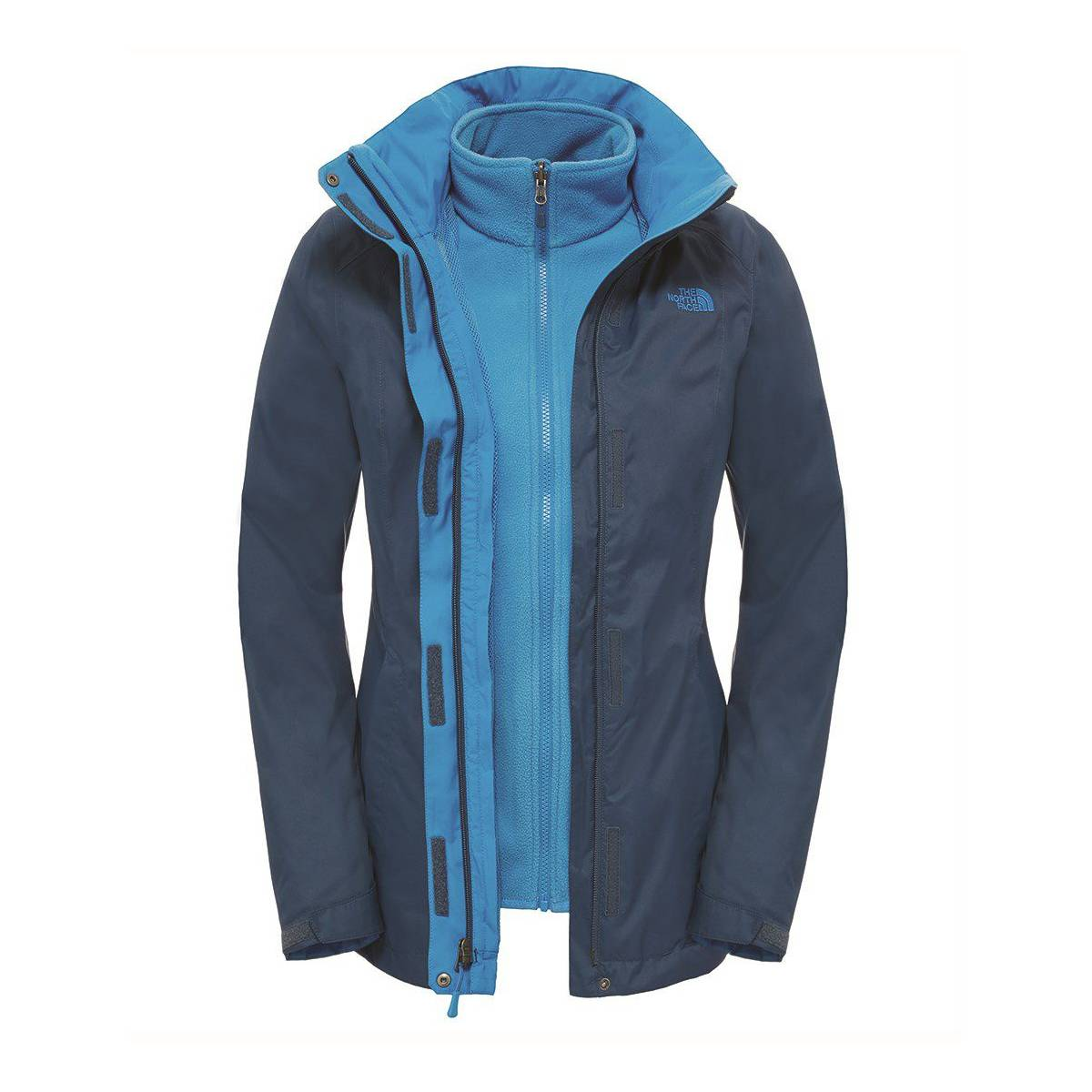 the north face - w evolve ii triclimate jacket bayan mont fw17 mavi 258116824