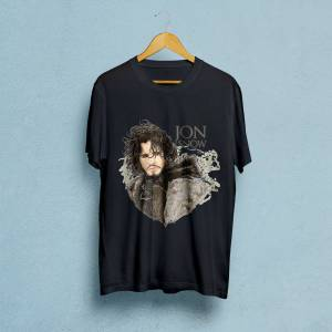 Game of Thrones ''Jon Snow'' Baskılı Erkek Tshirt