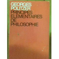 PRINCIPES ELEMANTAIRES DE PHILOSOPHIE GEORGES PO