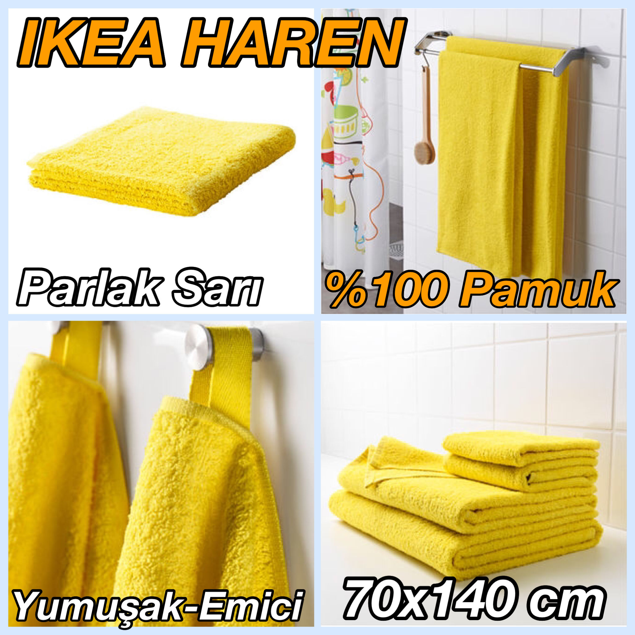 ikea haren 70x140 cm parlak sari plaj banyo havlusu. Black Bedroom Furniture Sets. Home Design Ideas