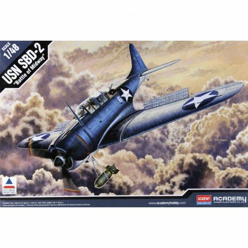ACADEMY 1/48 USN SBD-2 Midway