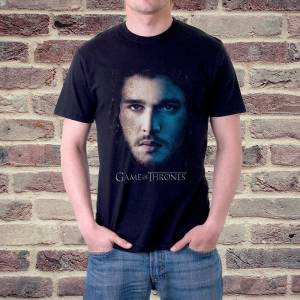 Game of Thrones ''Jon Snow'' Poster Baskılı Erkek Tshirt