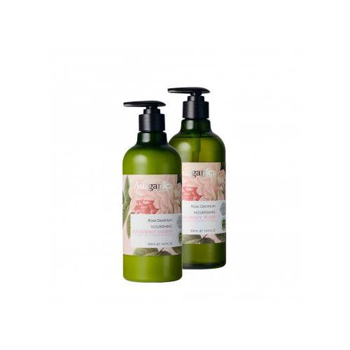 Ausganica Rose Geranium Nourishing Hand & Body Wash - Body L