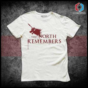 Game of thrones the north remembers tişört - ücretsiz kargo