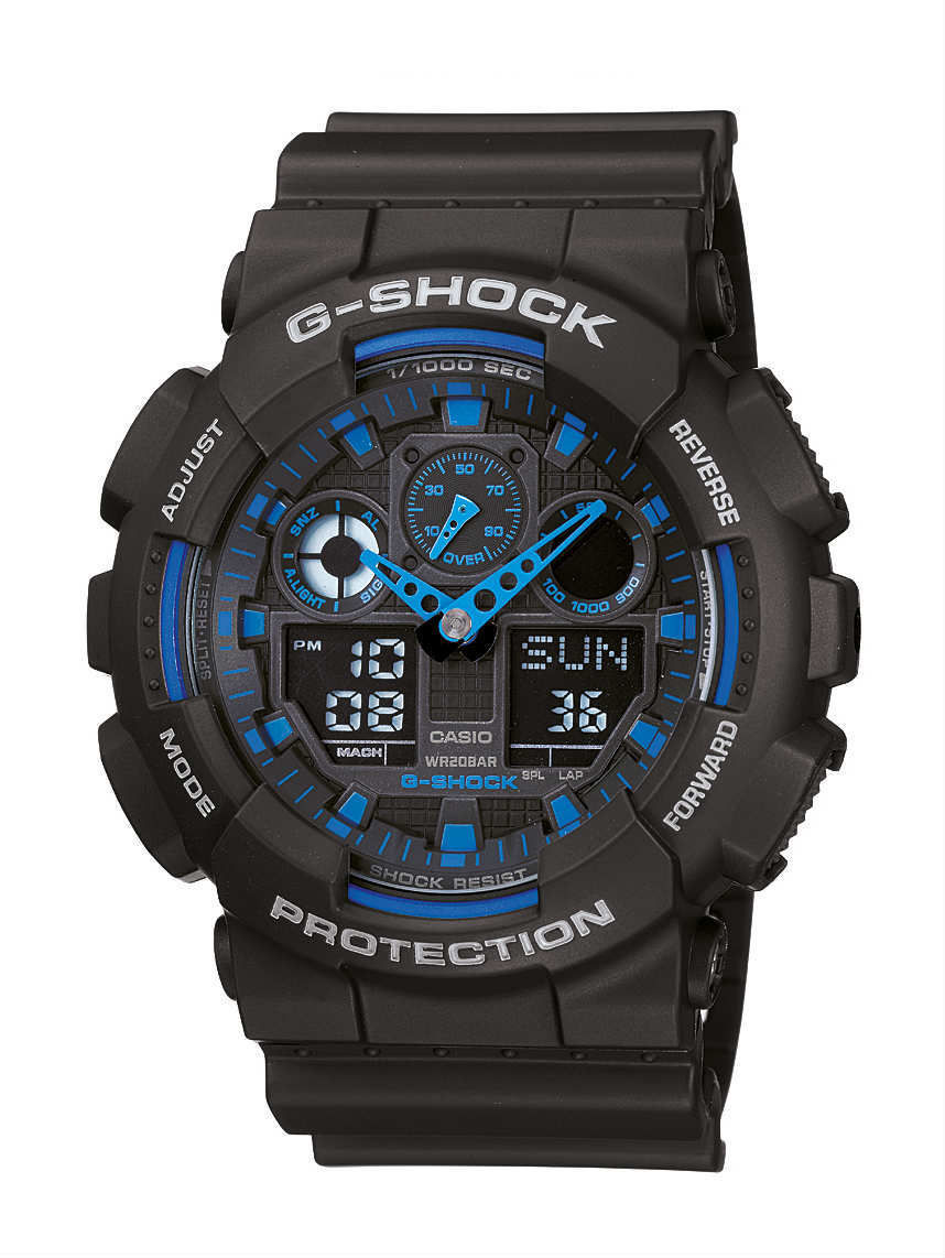 casio mens watch g shock ga 100 1a2er время