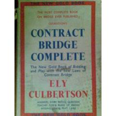 CONTRACT BRIDGE COMPLETE ELY CULBERTSON