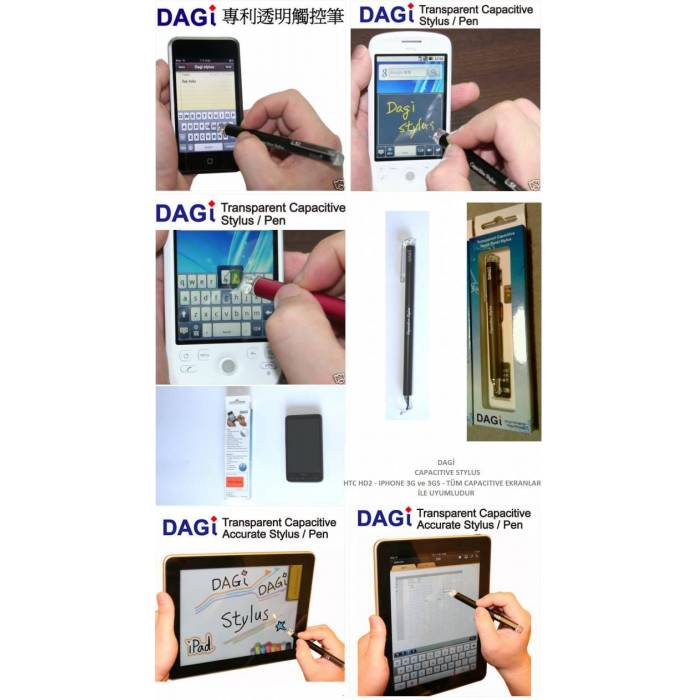 DAG� STYLUS KALEM iPAD / HTC HD2 / �PHONE / iPAD