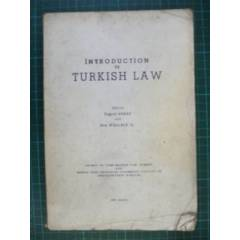 Introduct�on to turkish law _ hukuk 1966 anbay