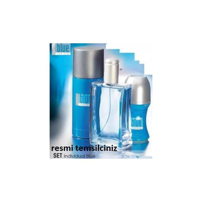 AVON IND�V�DUAL BLUE FOR H�M EDT 3l� SET