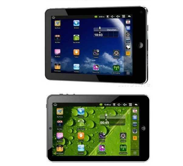 "7"" INCH TABLET PC ANDROID 2.2+800MHz+KAMERA+WIF"