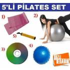 P�LATES TOPU + 20CM TOP+ PLATES BANT + POMPA+ CD