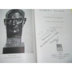 *TURKEY TO-DAY - STEPHAN RONART -1938 -�NG�L�ZCE