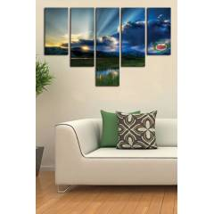 150X100CM B�Y�K BOY 5 PAR�ALI CANVAS TABLO D0089