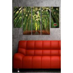 150x100CM B�Y�K BOY 5 PAR�ALI CANVAS TABLO D0063