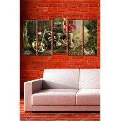 150x75CM B�Y�K BOY 5 PAR�ALI CANVAS TABLO D0051