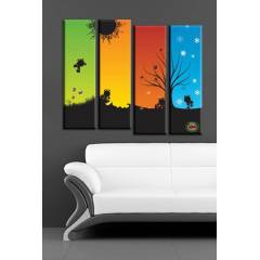 120x100cm B�Y�K BOY 4 PAR�ALI CANVAS TABLO D0017
