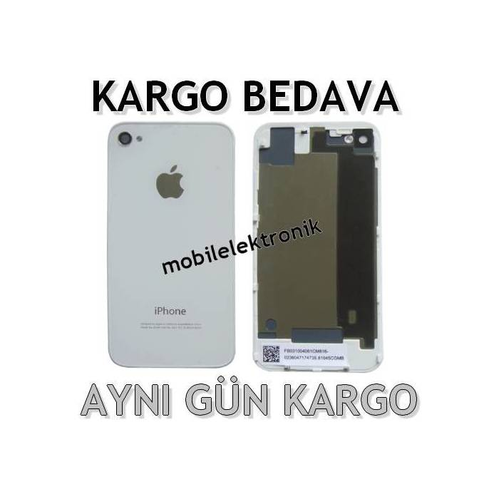 APPLE iPHONE 4S Arka Kapak & Pil Kapa�� Beyaz