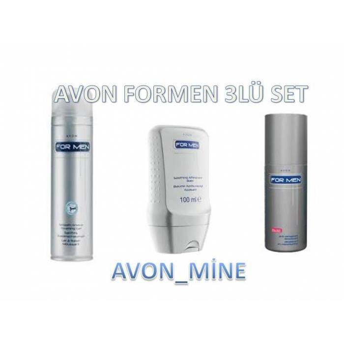 AVON FOR MEN ERKEKLER ���N 3L� TRA� SET�