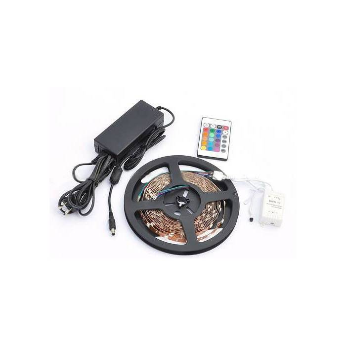 16 Renk RGB �erit LED - Kumanda, Adapt�r SET