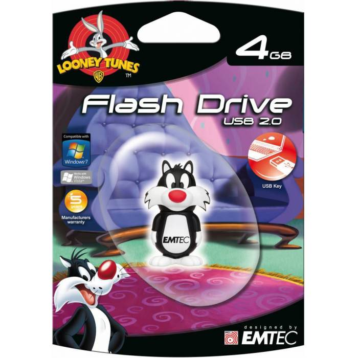 EMTEC L101 SYLVESTER 4GB KAU�UK USB FLASH BELLEK