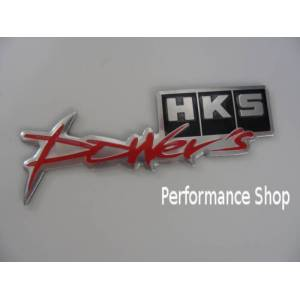 HKS Power's Sticker Stiker sitikır Logo KIRMIZI