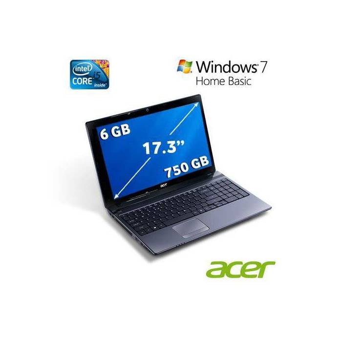 ACER AS7750G-2436G75MNKK Intel Core i5 750 GB