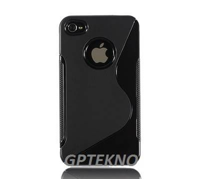 IPHONE 4/4S RUBBER S�YAH KILIF ORJ�NAL