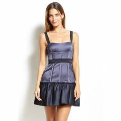 BCBG MAX AZRIA PURPLE SATIN CORSET DRESS 318$