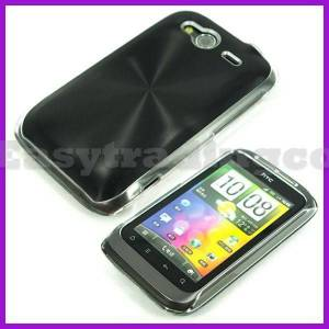HTC SENSATION METAL KAPLAMA RUBBER KILIF+3X FLM