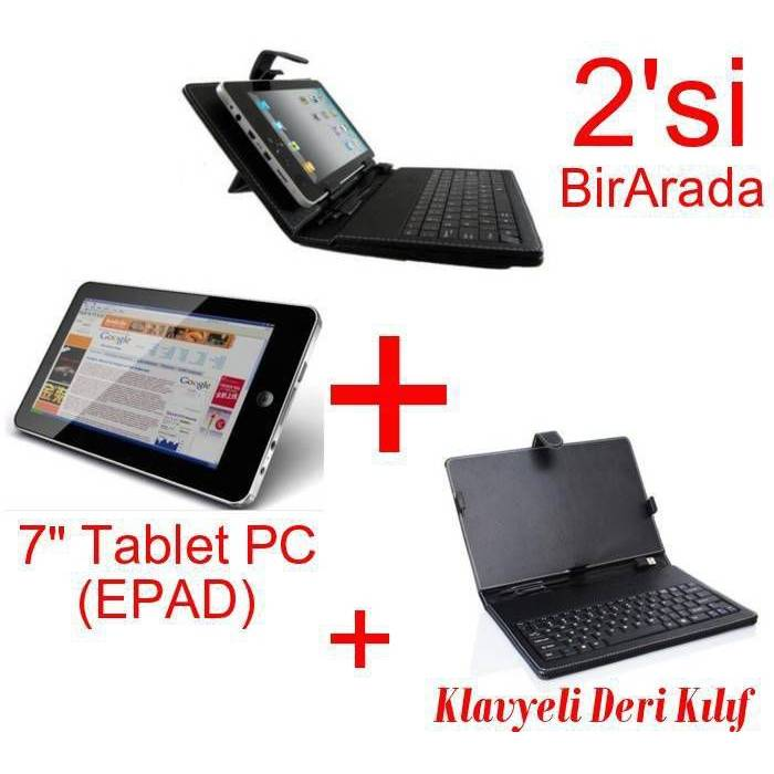 "Tablet PC 7"" Android 2.3 Wi-Fi 3G + Deri Klavye"