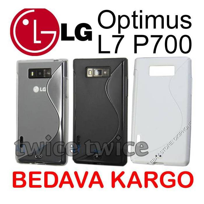 LG Optimus L7 P700 K�l�f Case Soft + 3 Jelatin