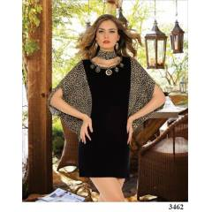 Polat Y�ld�z 3462 Yarasa Model Leopar Tunik