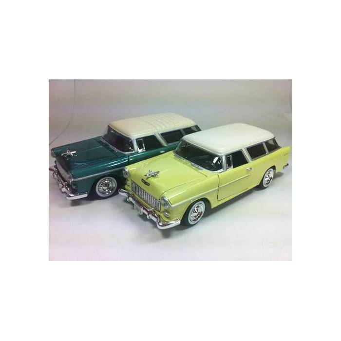 MOTOR MAX 1:24 1955 CHVEY BEL AIR NOMAD MODEL