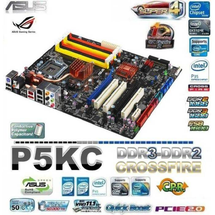 ASUS P5KC DDR3 VE DDR2 CROSSFIRE LGA775 ANAKART*