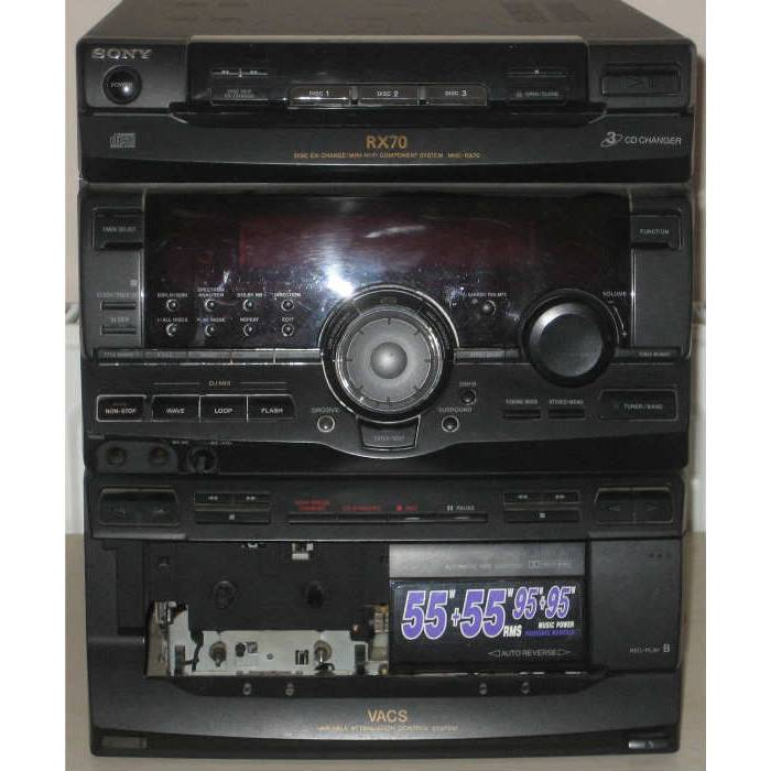 SONY RX70 M�Z�K SET� - RECEIVER N�YET�NE