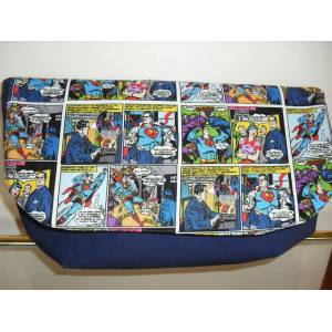 �ZEL TASARIM RETRO COMIC SUPERMAN CLUTCH �ANTA