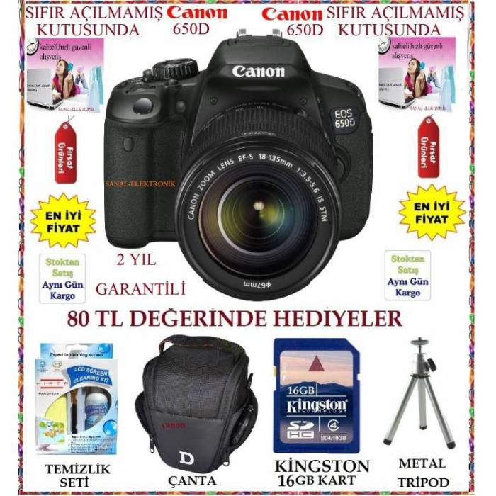 CANON EOS 650D 18-55 IS II KIT FOTO�RAF MAK�NES�