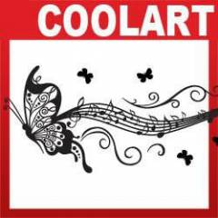 COOLART Duvar Sticker Notalar ve kelebek (st233)